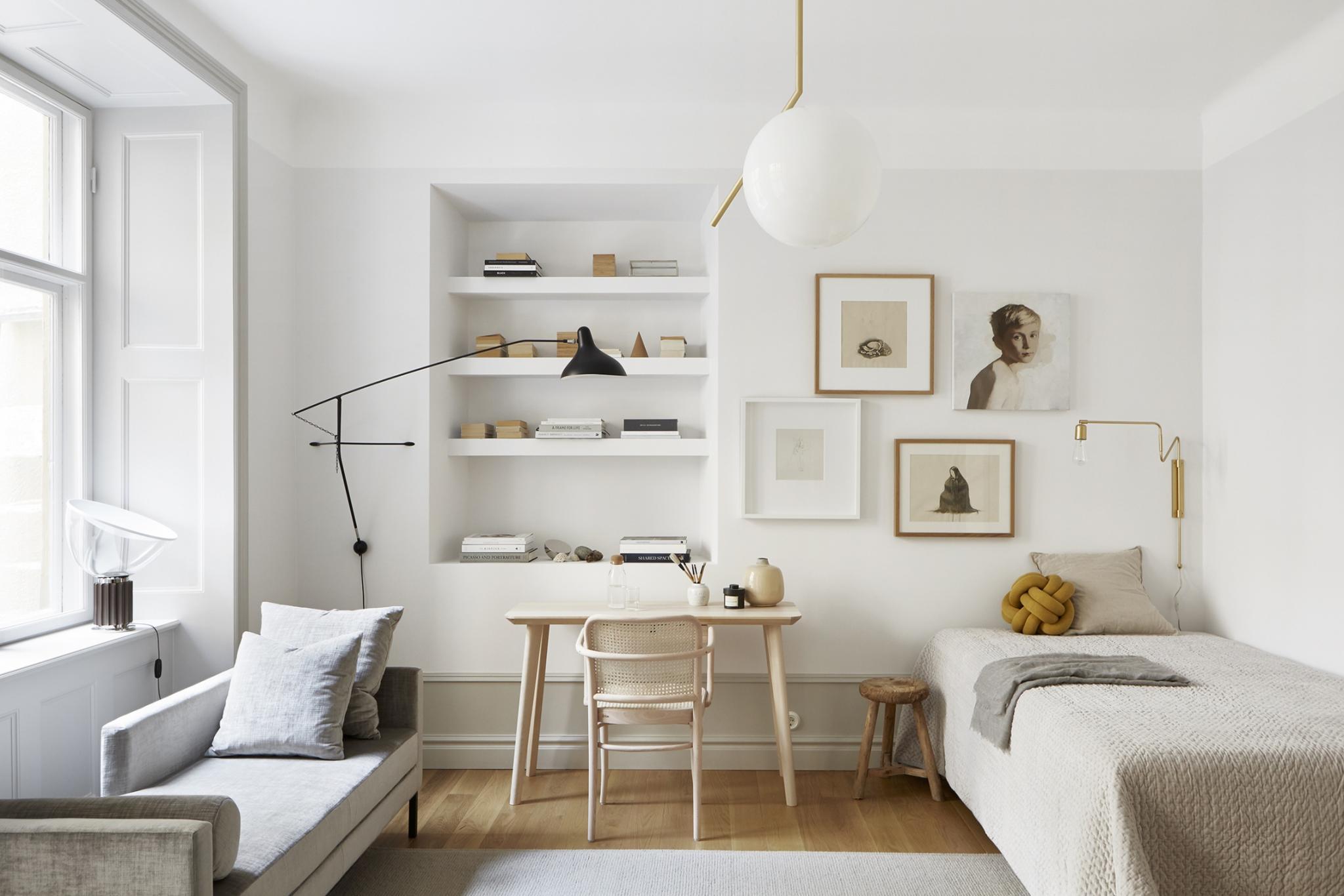 Auch Kleine Wohnungen Können Ganz Gross Rauskommen. Mit Einem Dezenten  Farbkonzept, Hellen Und Leichten Möbel Und Den ...